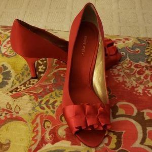 Nine West satin heels